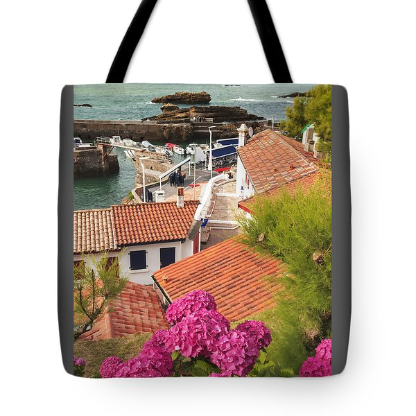 cozy tourist town on the Bay of Biscay Tote Bag