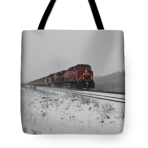 Tote Bag featuring the photograph Cp Rail 2 by Stuart Turnbull