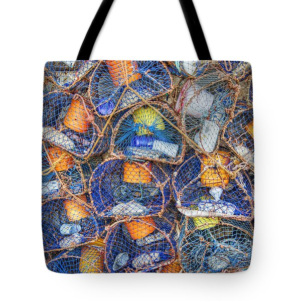 Crab And Lobster Pots On Quayside Tote Bag