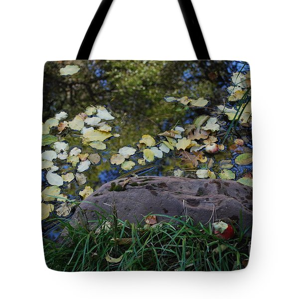 Crab Apple and Leaves Tote Bag by Heather Kirk