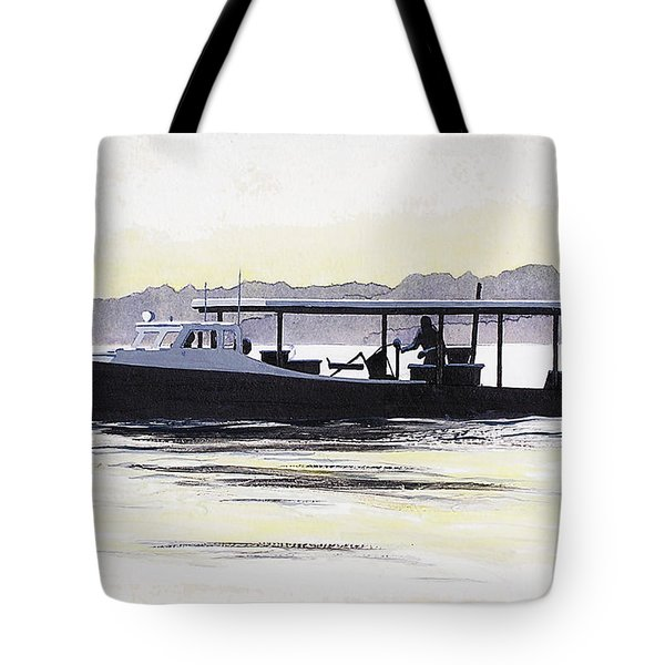 Crab Boat Slick Calm Day Chesapeake Bay Maryland Tote Bag