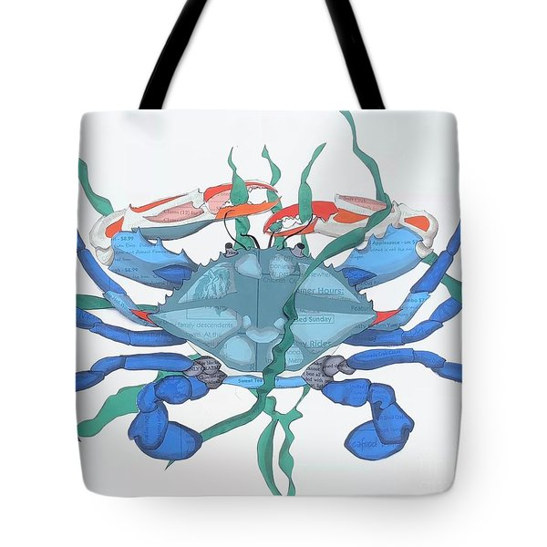 Crab Is On The Menu Chincoteague Tote Bag
