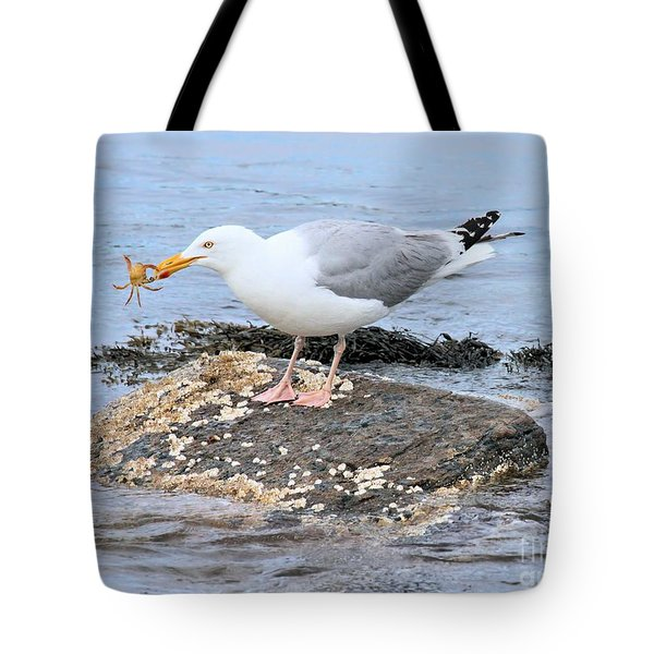 Crab Legs Tote Bag by Debbie Stahre