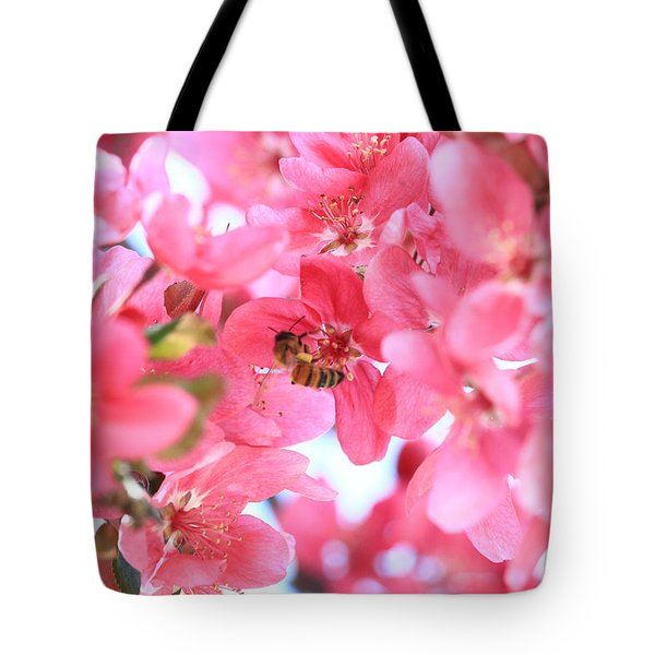 Crabapple Bees 2 Tote Bag