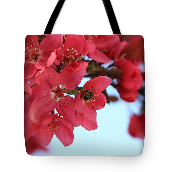 Crabapple Bees Tote Bag