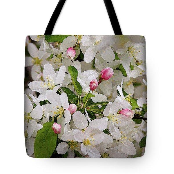 Crabapple Blossoms 5 Tote Bag