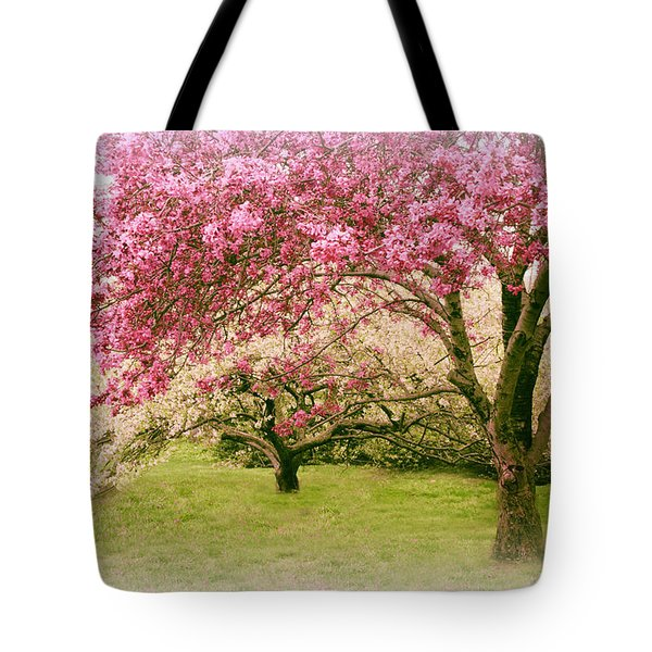 Tote Bag featuring the photograph Crabapple Confection by Jessica Jenney
