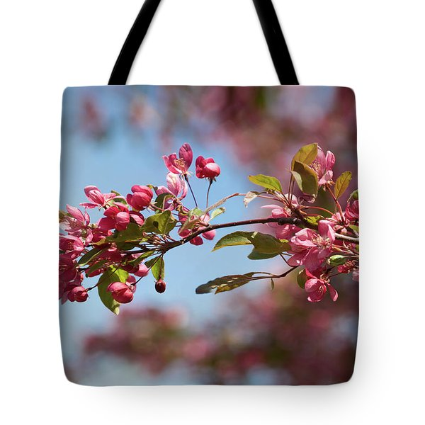 Crabapple In Spring Section 1 Of 4 Tote Bag