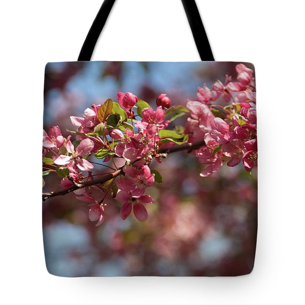 Crabapple In Spring Section 2 Of 4 Tote Bag