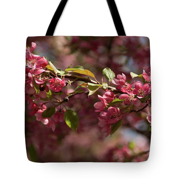 Crabapple In Spring Section 3 Of 4 Tote Bag