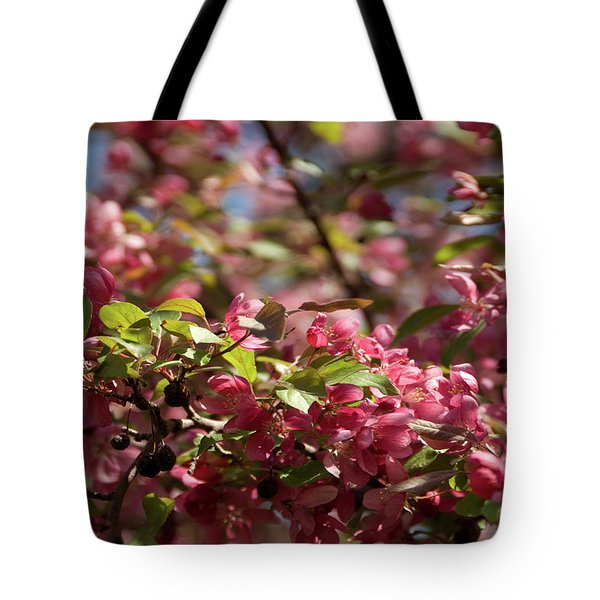 Crabapple In Spring Section 4 Of 4 Tote Bag