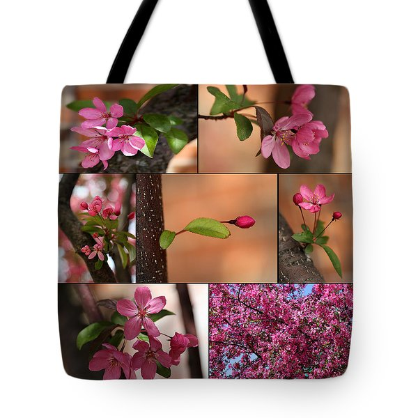 Crabapple Spring 1 Tote Bag by Mary Bedy