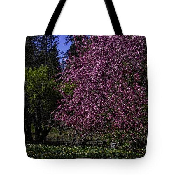 Crabapple Tree In Bloom Tote Bag