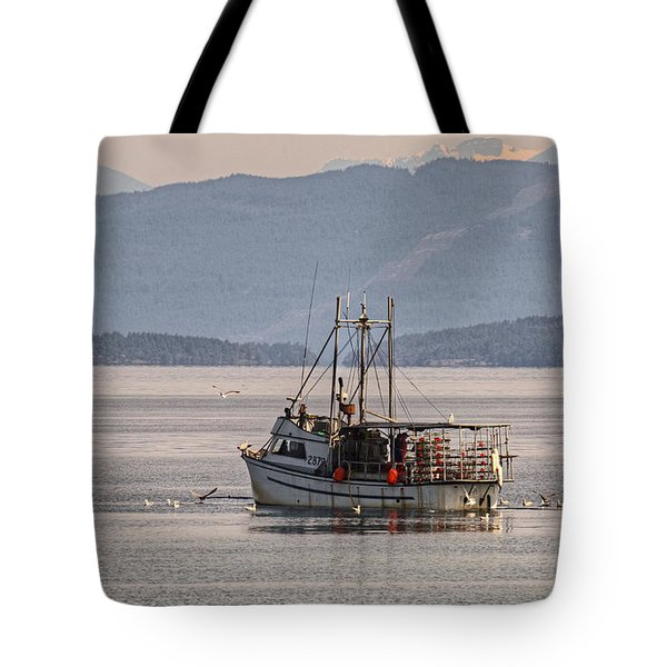 Crabbing Tote Bag by Randy Hall