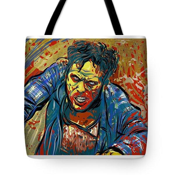 Tote Bag featuring the digital art Crabby Joe by Antonio Romero