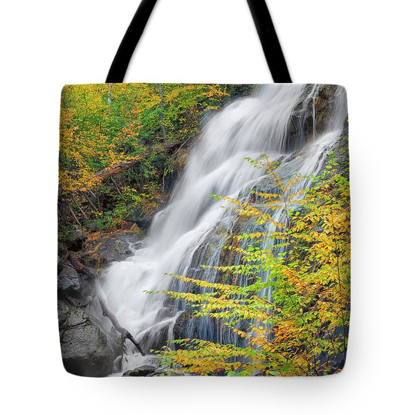 Crabtree Falls In The Fall Tote Bag