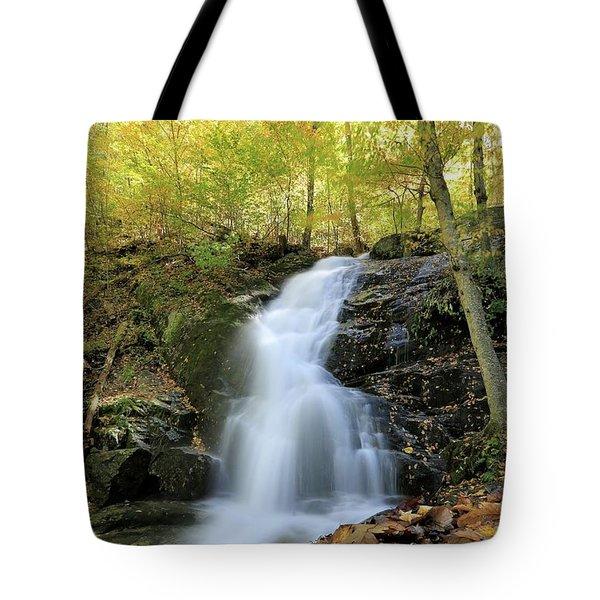 Crabtree Falls In The Fall Tote Bag