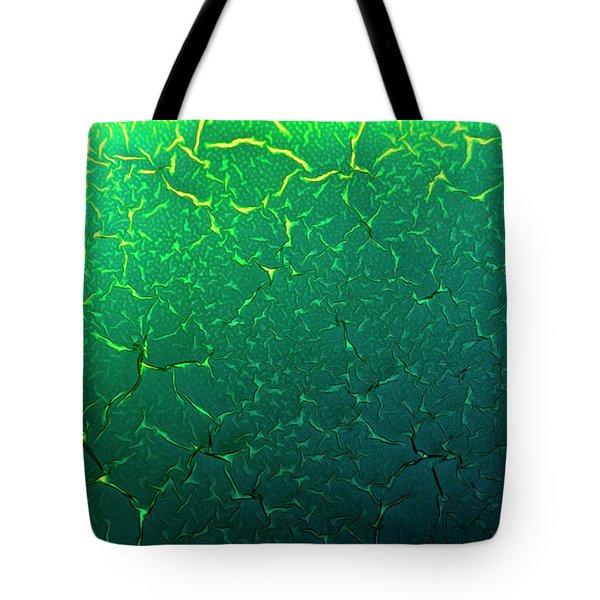 Cracks Under Microscope Tote Bag