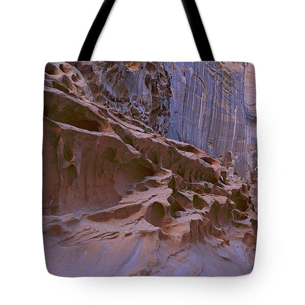 Crack Canyon Blue Wall Tote Bag