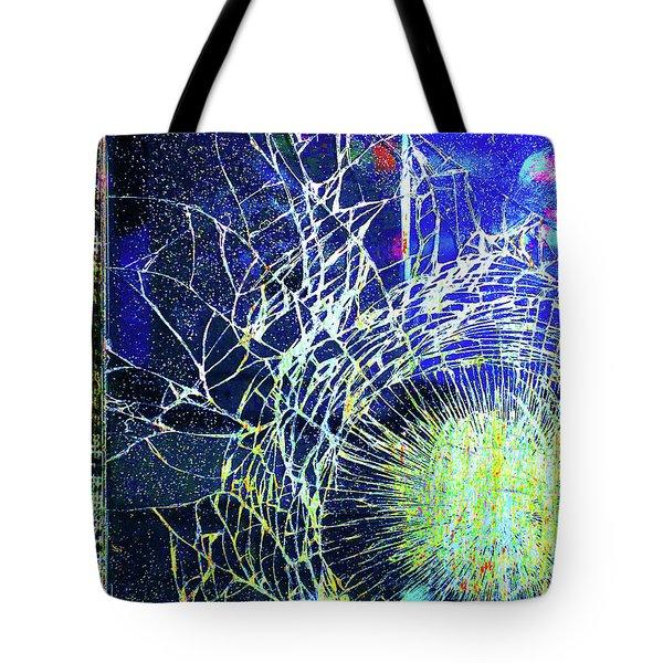 Tote Bag featuring the mixed media Crack by Tony Rubino