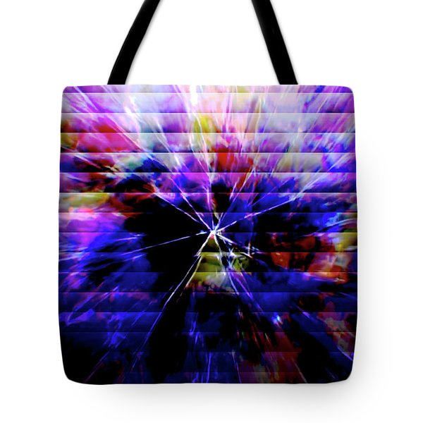 Cracked Abstract Blue Tote Bag