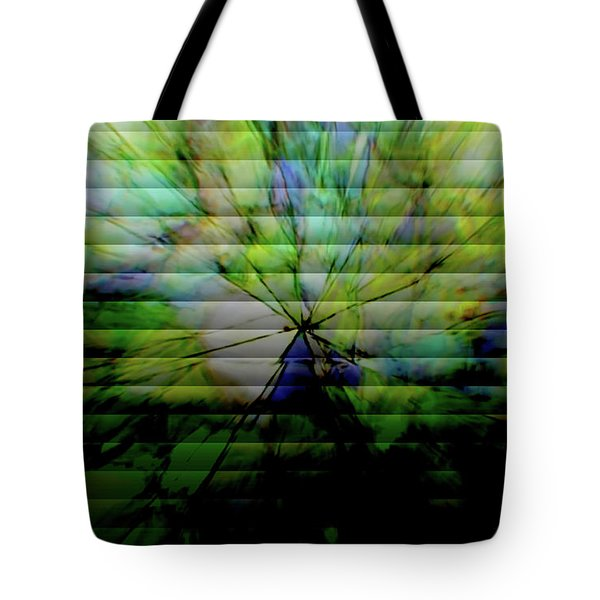 Cracked Abstract Green Tote Bag
