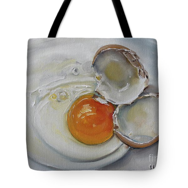 Cracked Brown Egg Tote Bag