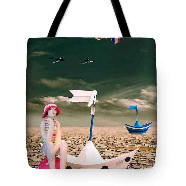 Tote Bag featuring the photograph Cracked II - The Bathing Beauty by Chris Armytage