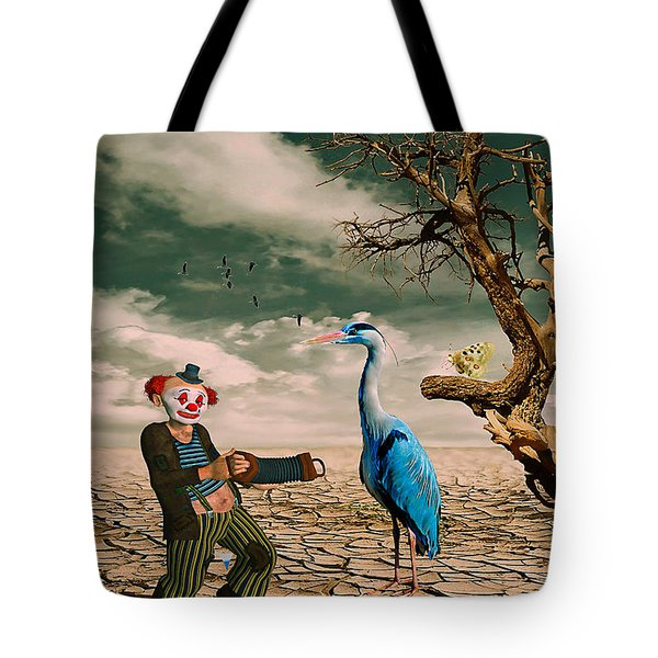 Tote Bag featuring the photograph Cracked IIi - The Clown by Chris Armytage
