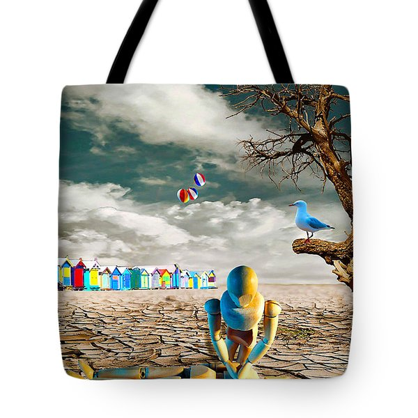 Tote Bag featuring the photograph Cracked Vi - The Dummies Revival by Chris Armytage