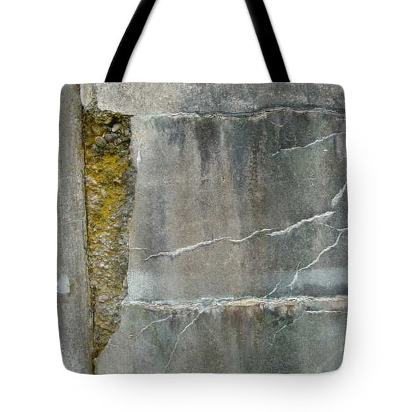 Cracked Wall Tote Bag by Claudia Stewart