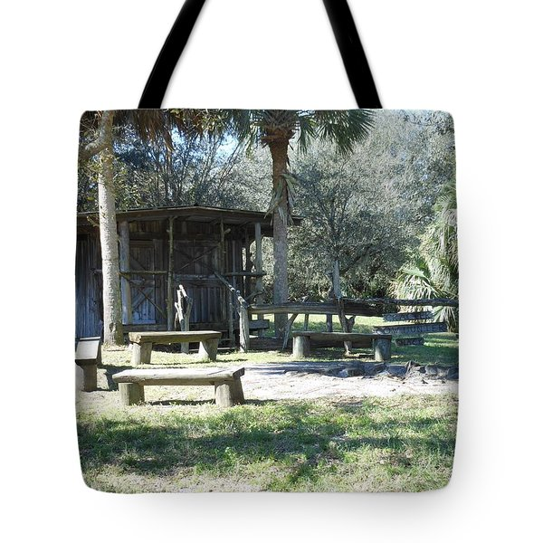 Cracker Cow Hunter Shack Tote Bag by Kay Gilley