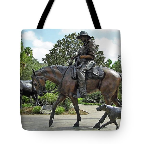 Cracker Cowboy And His Dog Tote Bag