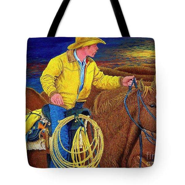 Cracker Cowboy Sunrise Tote Bag