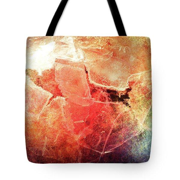 Cracks Of Colors Tote Bag