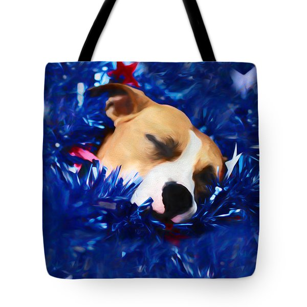 Tote Bag featuring the photograph Cradled By A Blanket Of Stars And Stripes by Shelley Neff