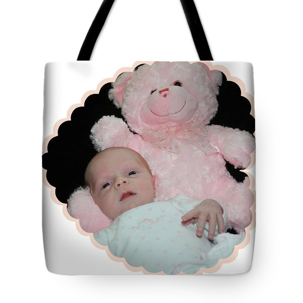 Cradled By Teddy Tote Bag