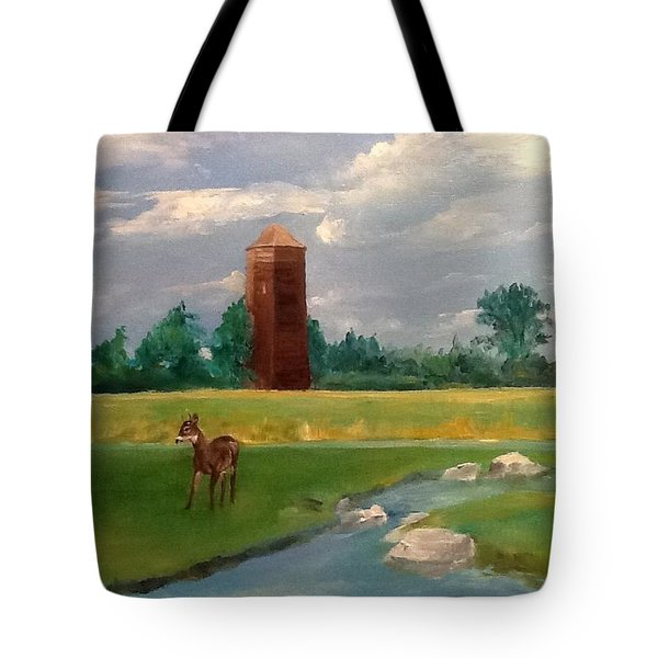 Tote Bag featuring the painting Cragburn by Ellen Canfield