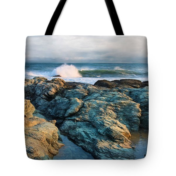 Tote Bag featuring the photograph Craggy Coast by Robin-Lee Vieira