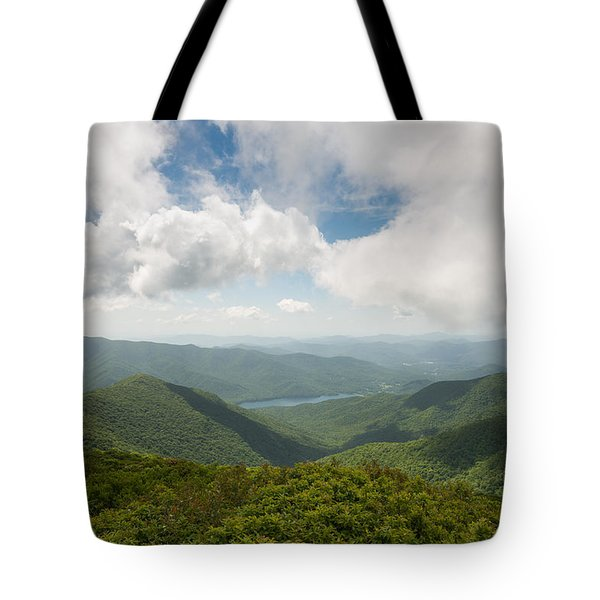 Craggy Pinnacle Blue Ridge Parkway Mountain View Tote Bag by Rick Dunnuck