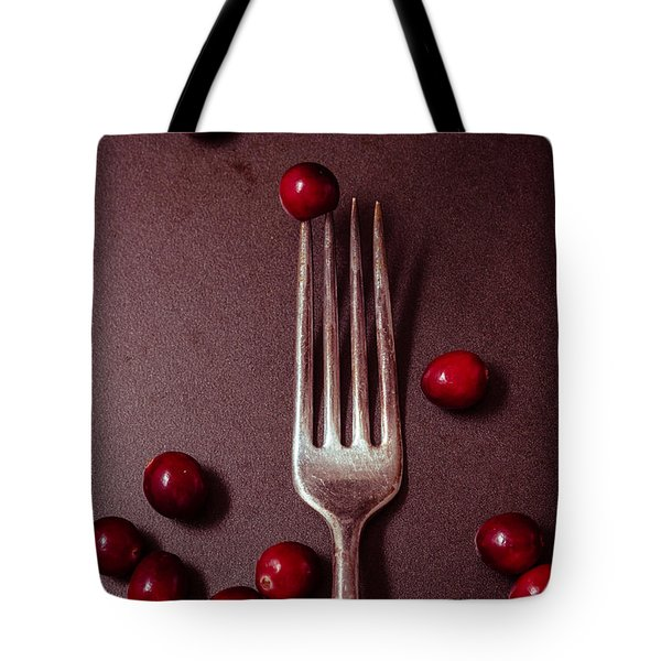 Cranberries And Fork Tote Bag