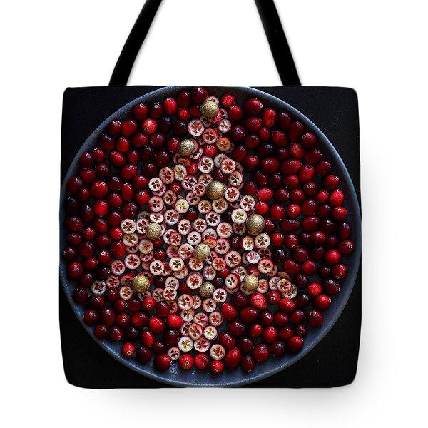 Cranberry Christmas Tree Tote Bag