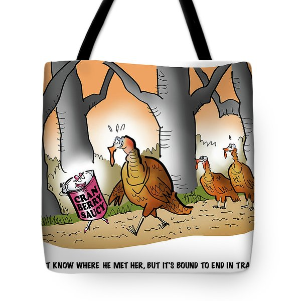Cranberry Saucy Tote Bag