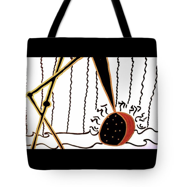Tote Bag featuring the mixed media Crane by Clarity Artists