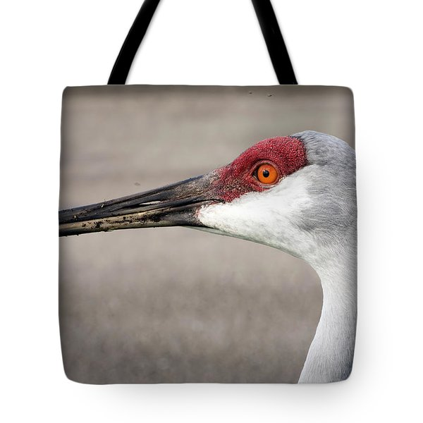 Crane Closeup Tote Bag