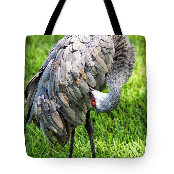 Crane Down Under Tote Bag