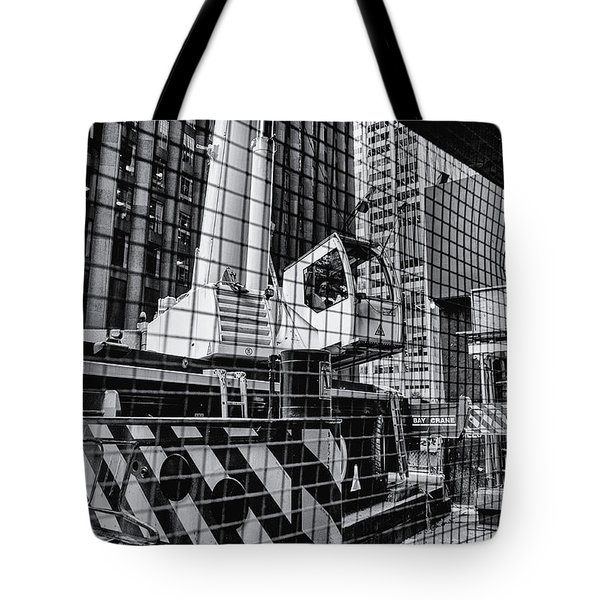 Crane In Manhattan Tote Bag