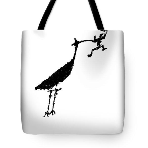 Crane Petroglyph Tote Bag