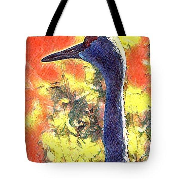 Crane View Tote Bag