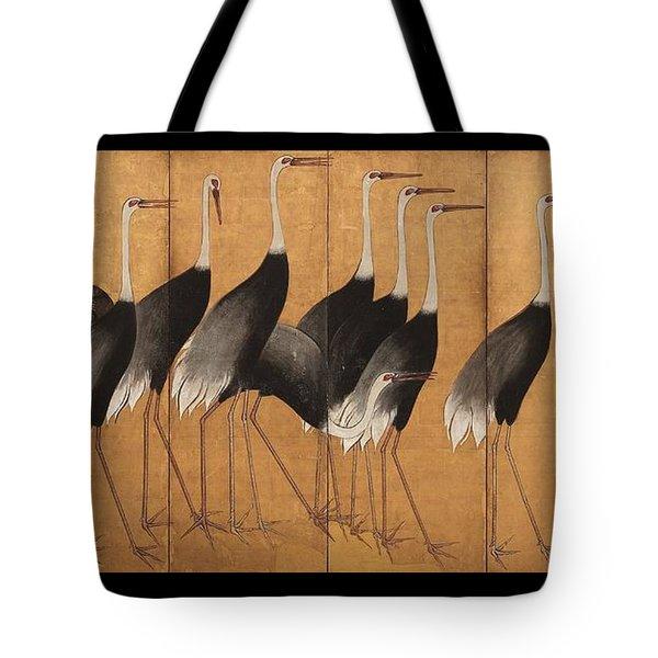 Cranes Tote Bag by Ogata Korin